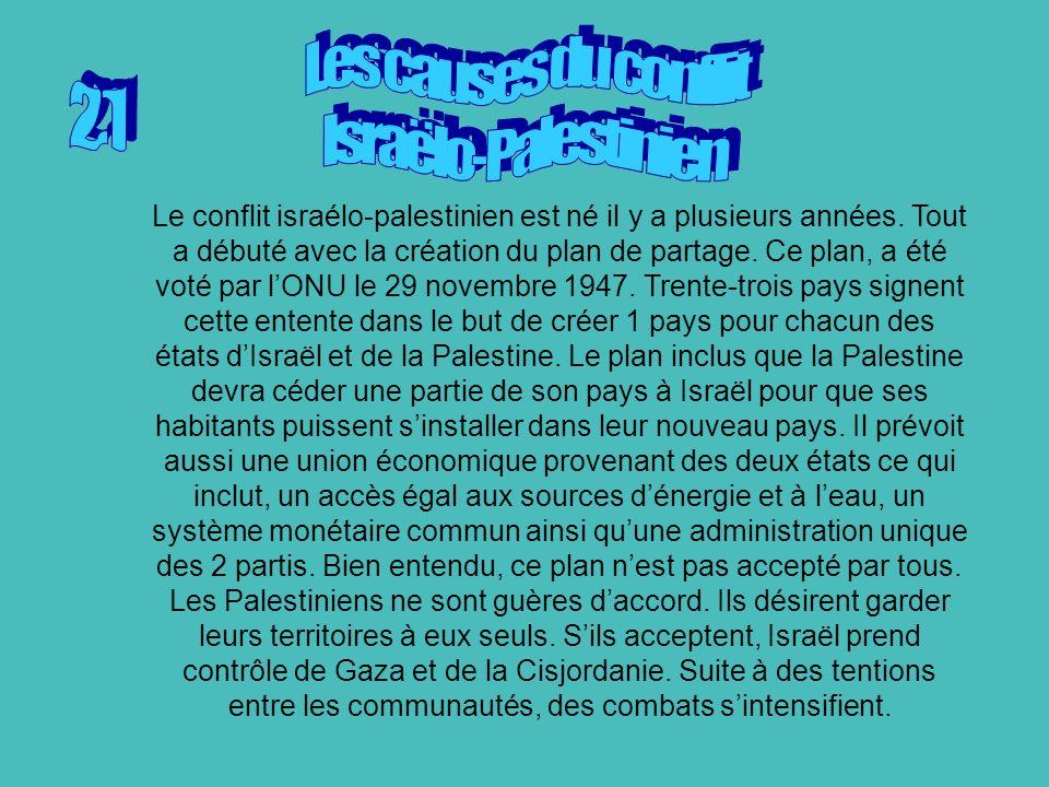 Les causes du conflit Israëlo-Palestinien 2.1