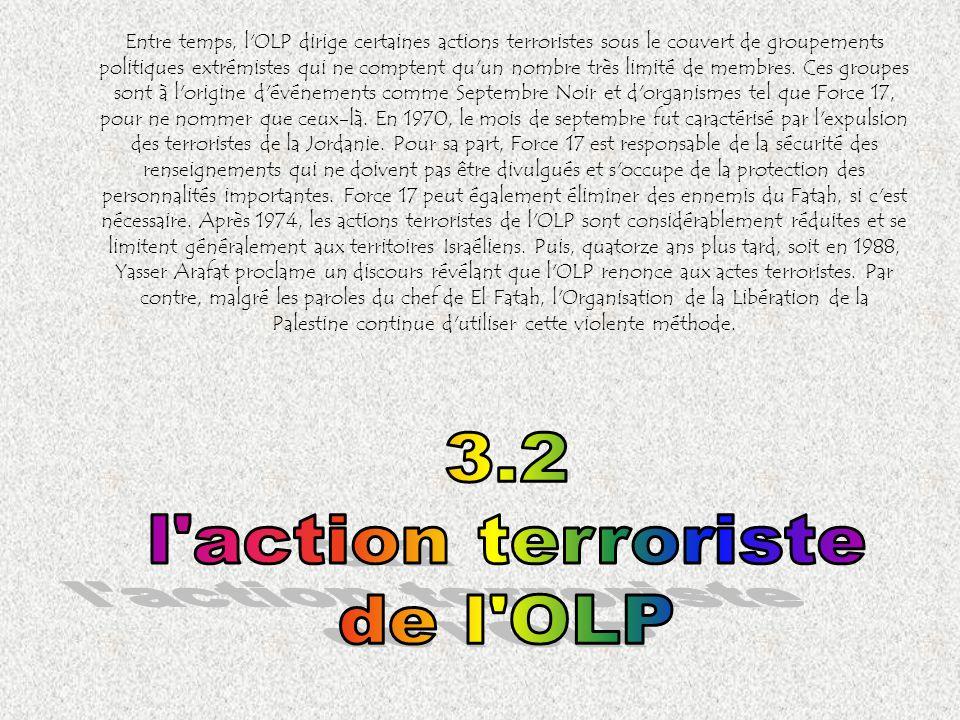 3.2 l action terroriste de l OLP