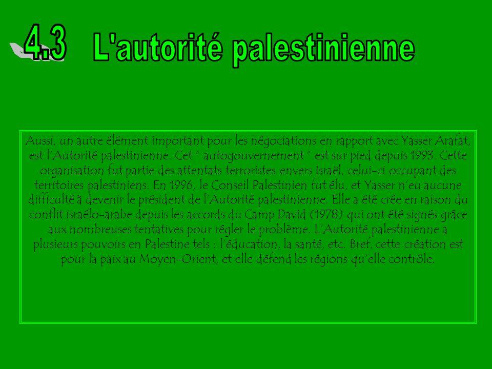 L autorité palestinienne
