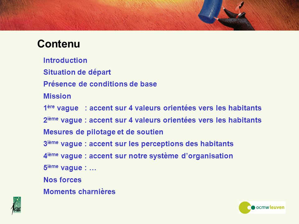Contenu Introduction Situation de départ