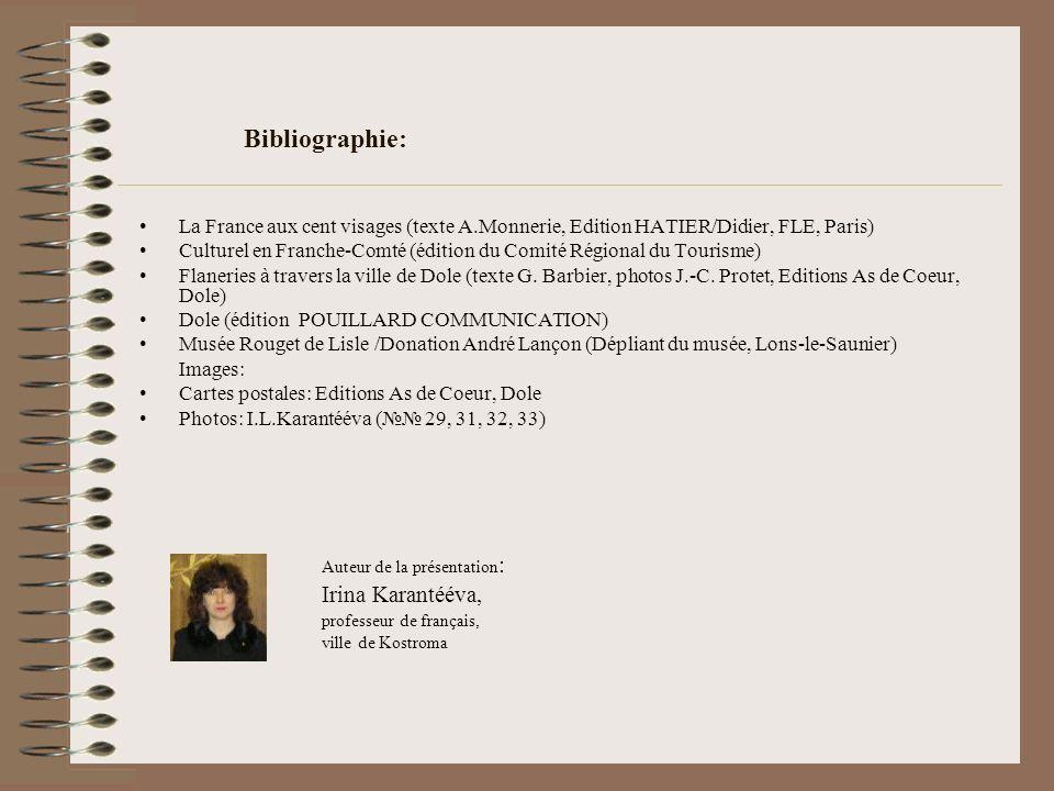 Bibliographie: Irina Karantééva,