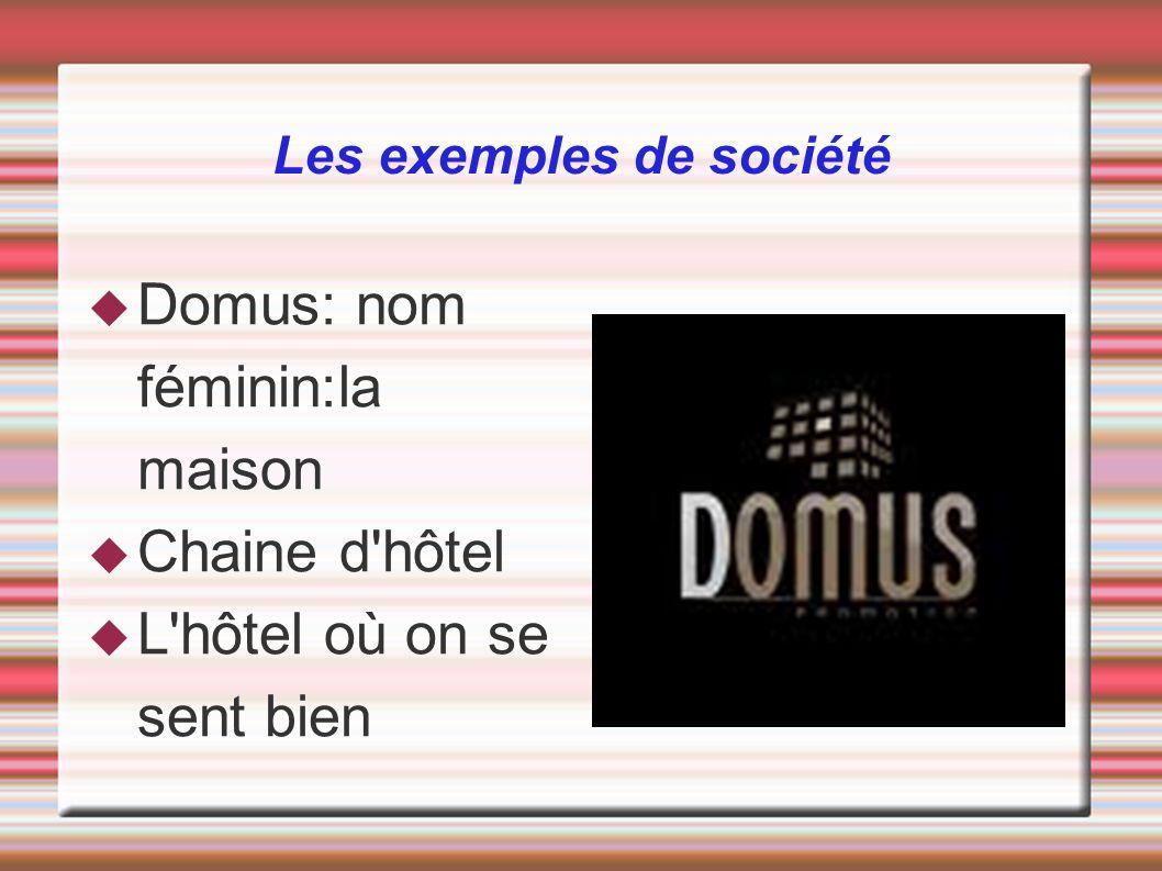 Les exemples de société