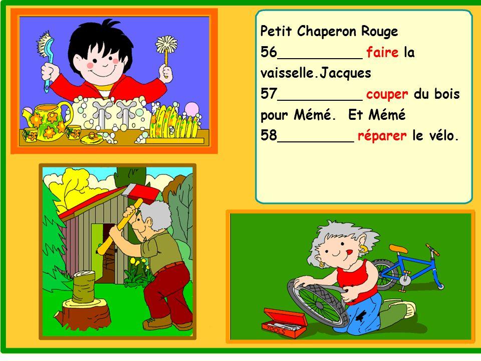 Petit Chaperon Rouge 56__________ faire la vaisselle
