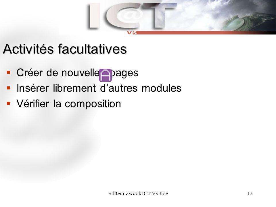 Activités facultatives