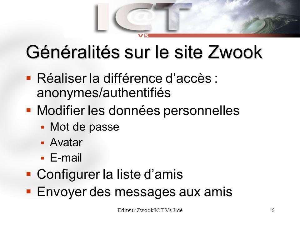 Généralités sur le site Zwook