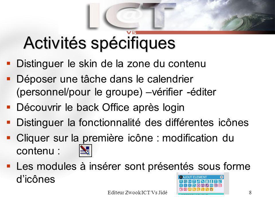 Activités spécifiques