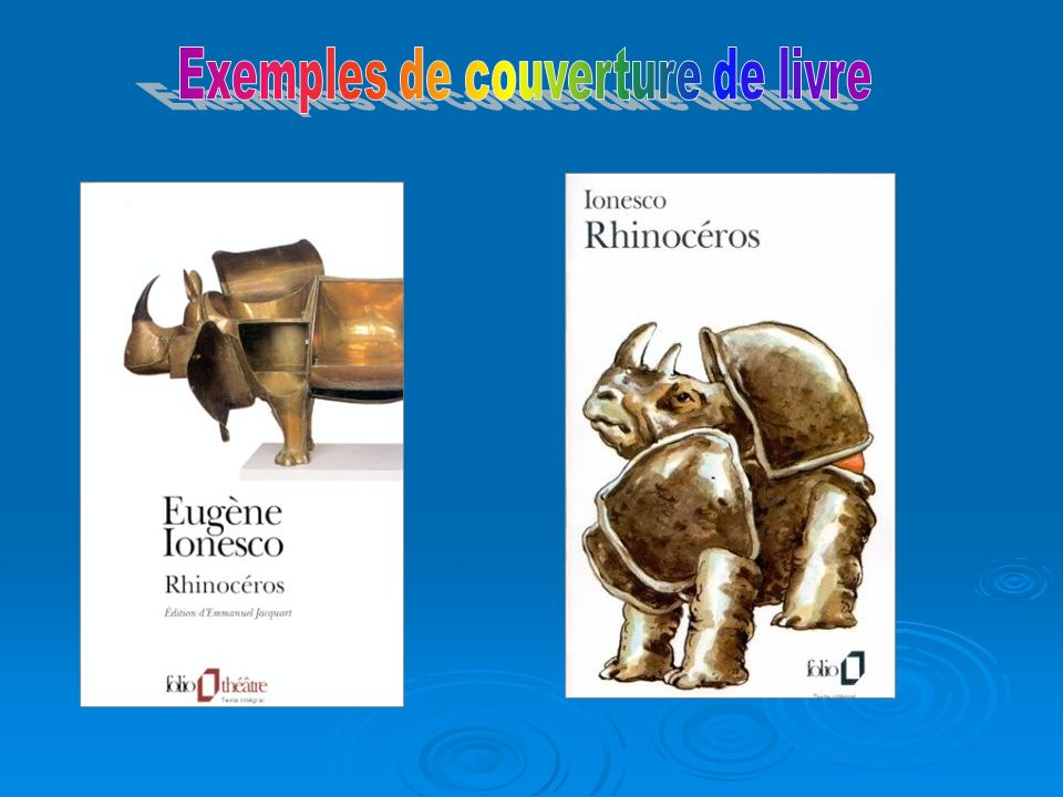 Exemples de couverture de livre