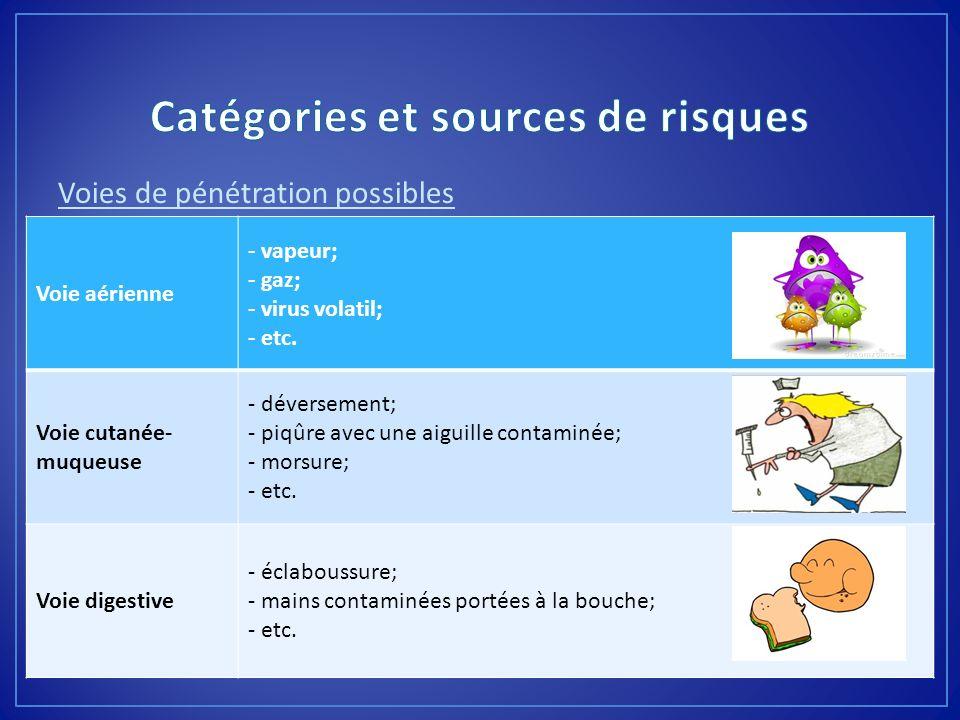 Catégories et sources de risques