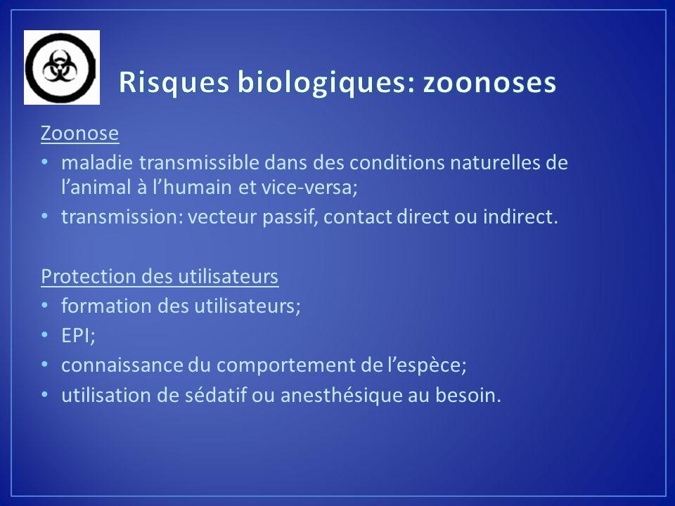 Risques biologiques: zoonoses