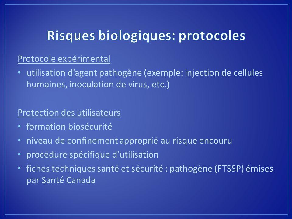Risques biologiques: protocoles
