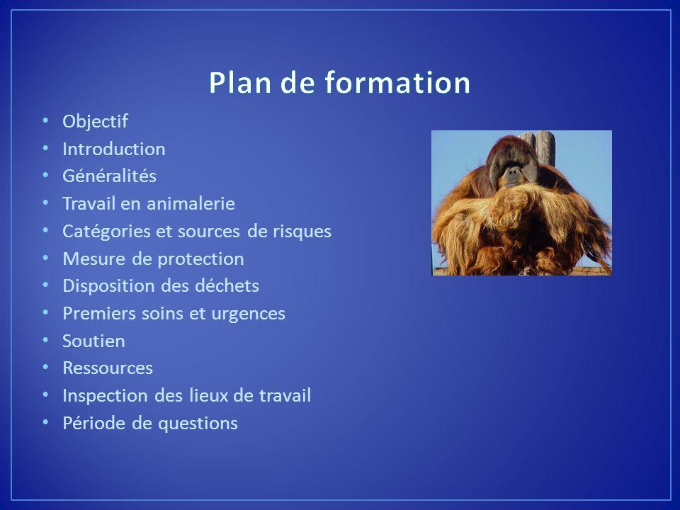 Plan de formation Objectif Introduction Généralités