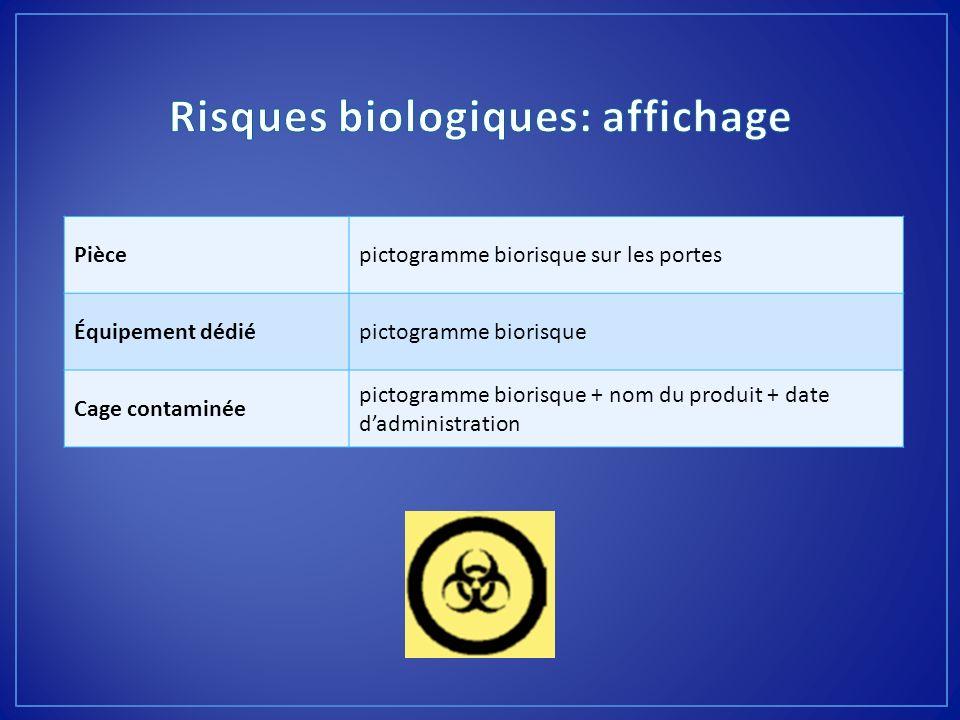 Risques biologiques: affichage