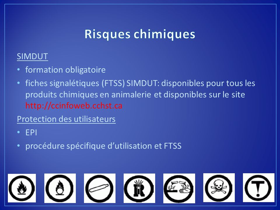Risques chimiques SIMDUT formation obligatoire