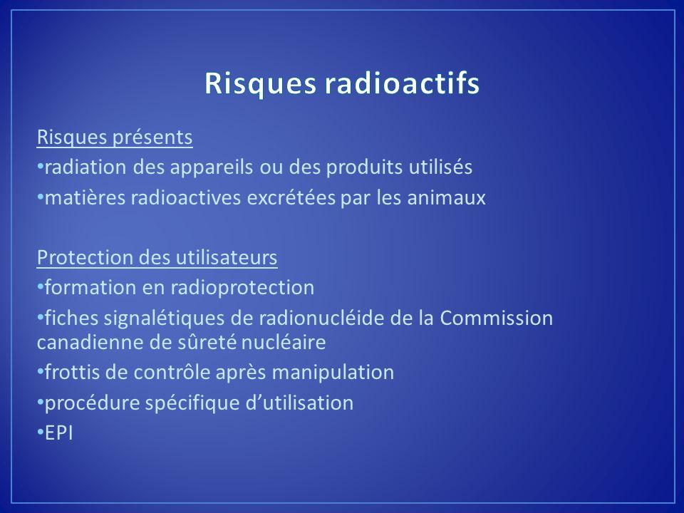 Risques radioactifs Risques présents