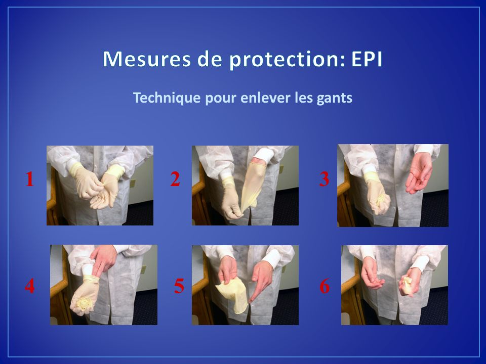 Mesures de protection: EPI