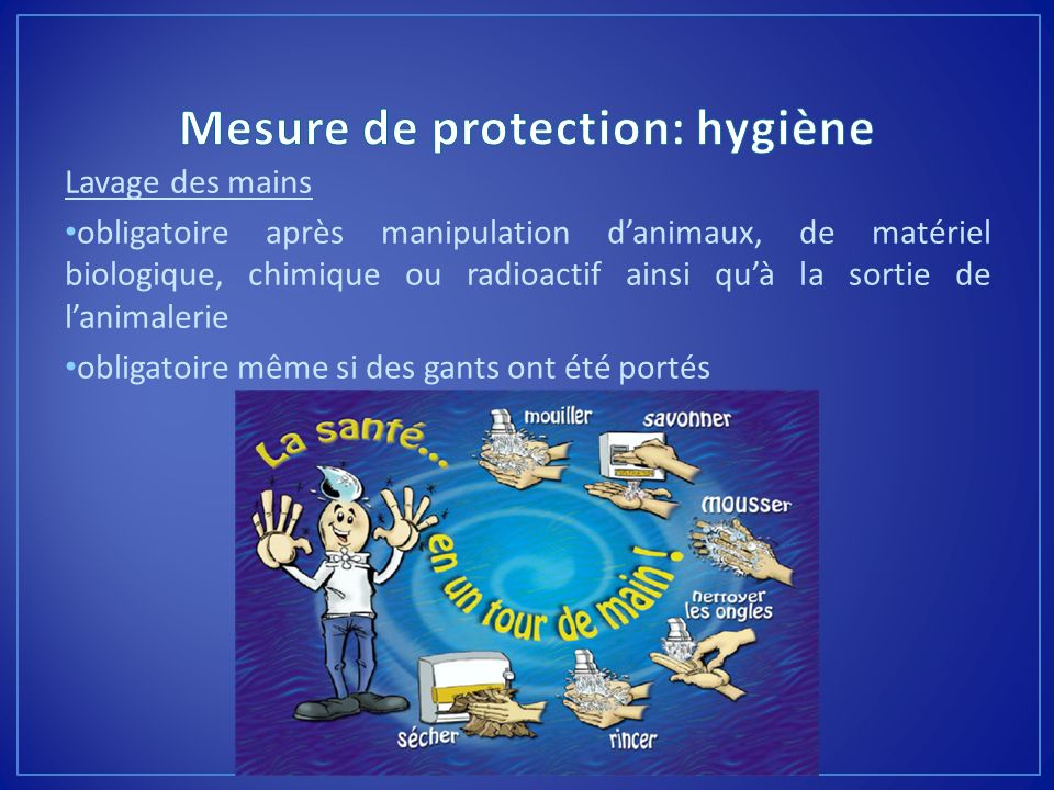 Mesure de protection: hygiène