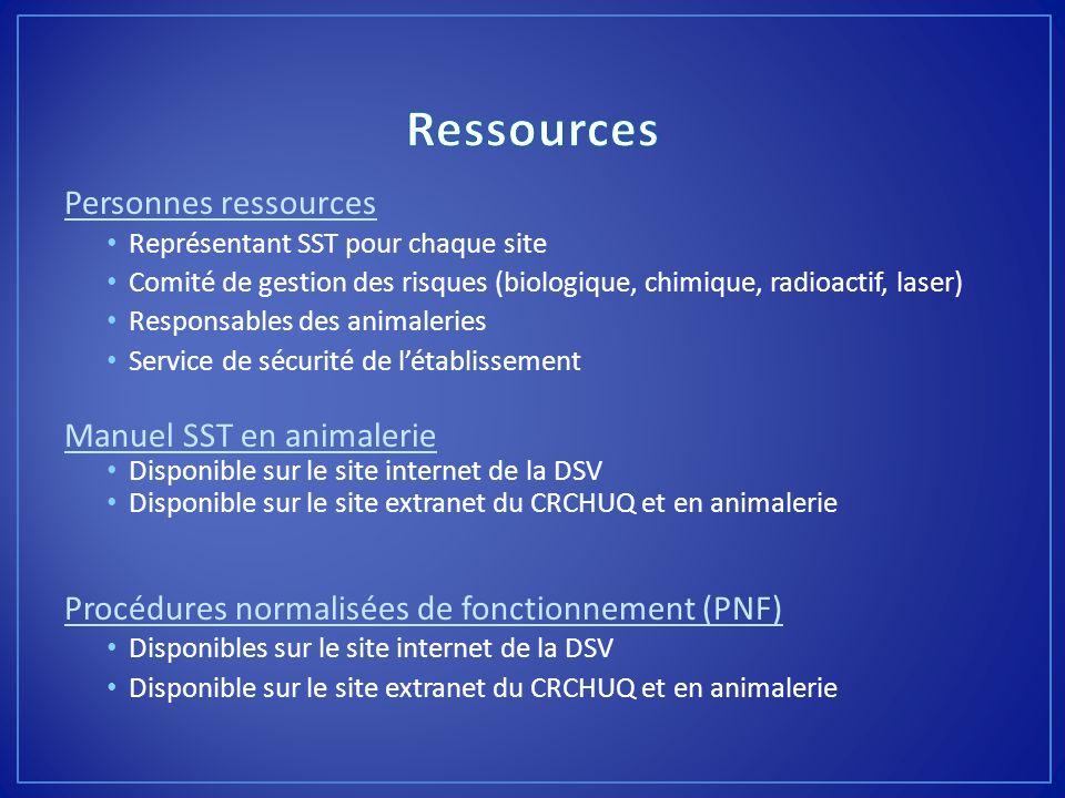 Ressources Personnes ressources Manuel SST en animalerie