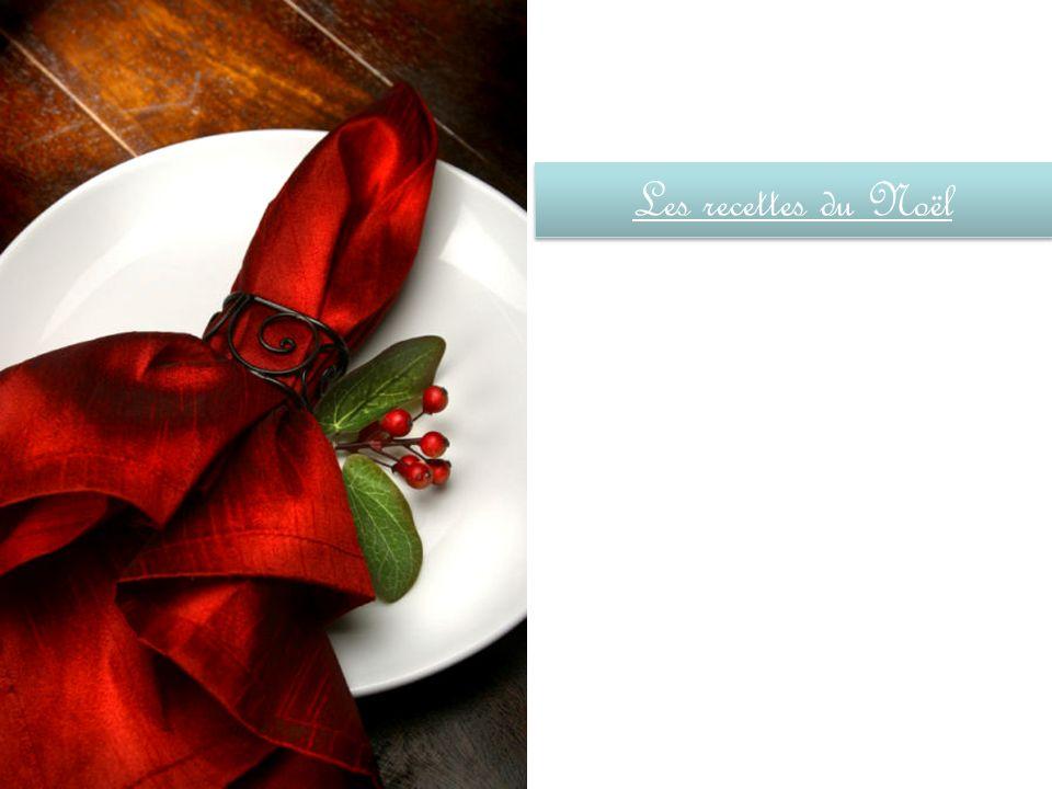 Les recettes du Noël