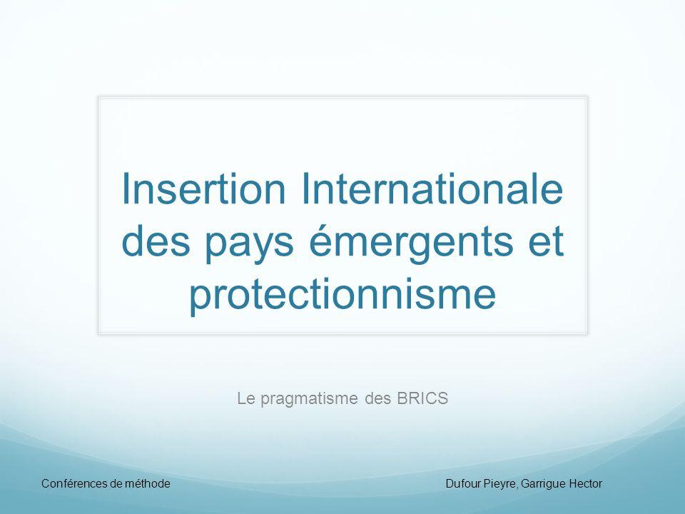 Insertion Internationale des pays émergents et protectionnisme