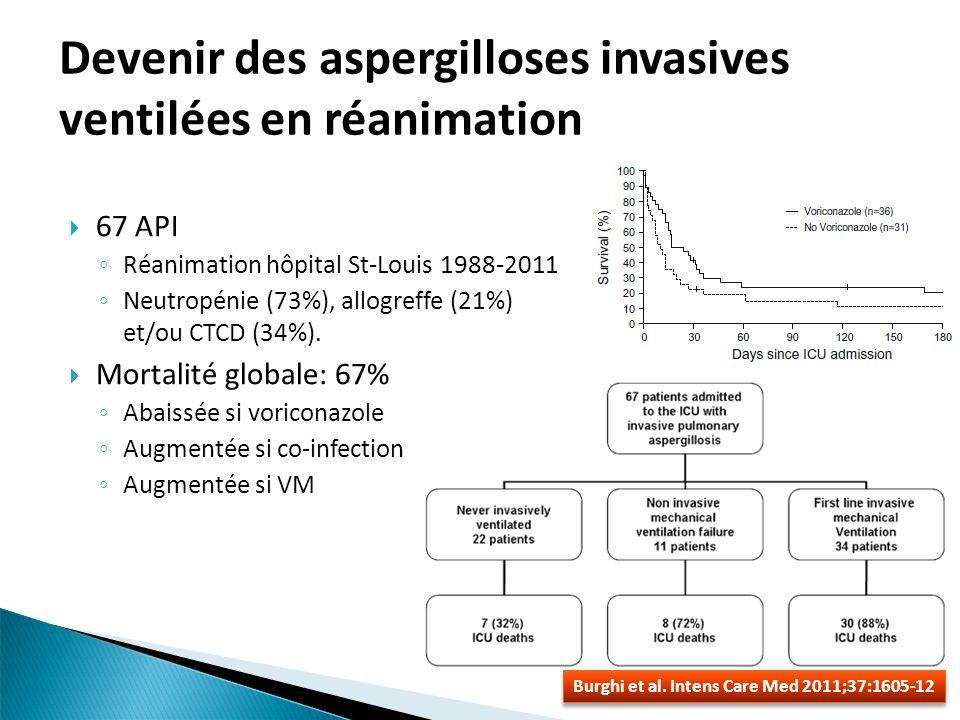 Devenir des aspergilloses invasives ventilées en réanimation