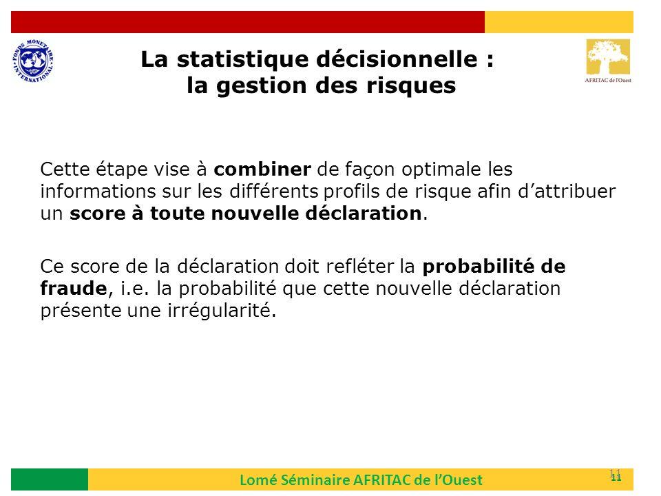 La statistique décisionnelle : la gestion des risques