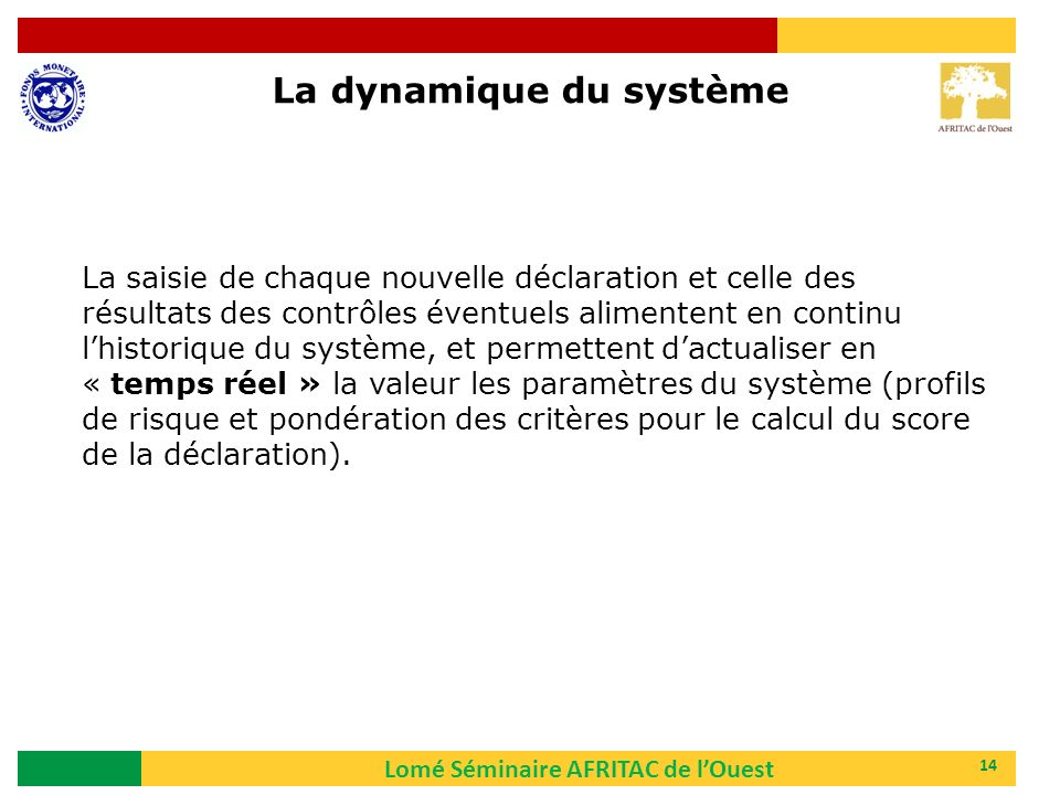 La dynamique du système