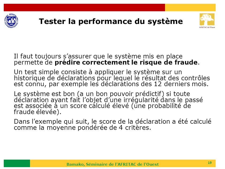 Tester la performance du système