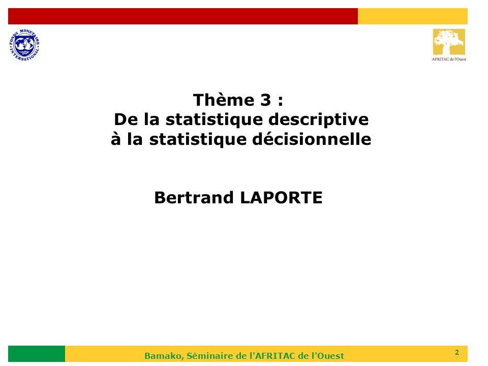 De la statistique descriptive à la statistique décisionnelle
