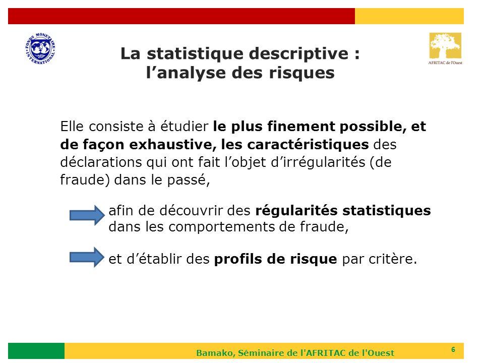 La statistique descriptive : l'analyse des risques