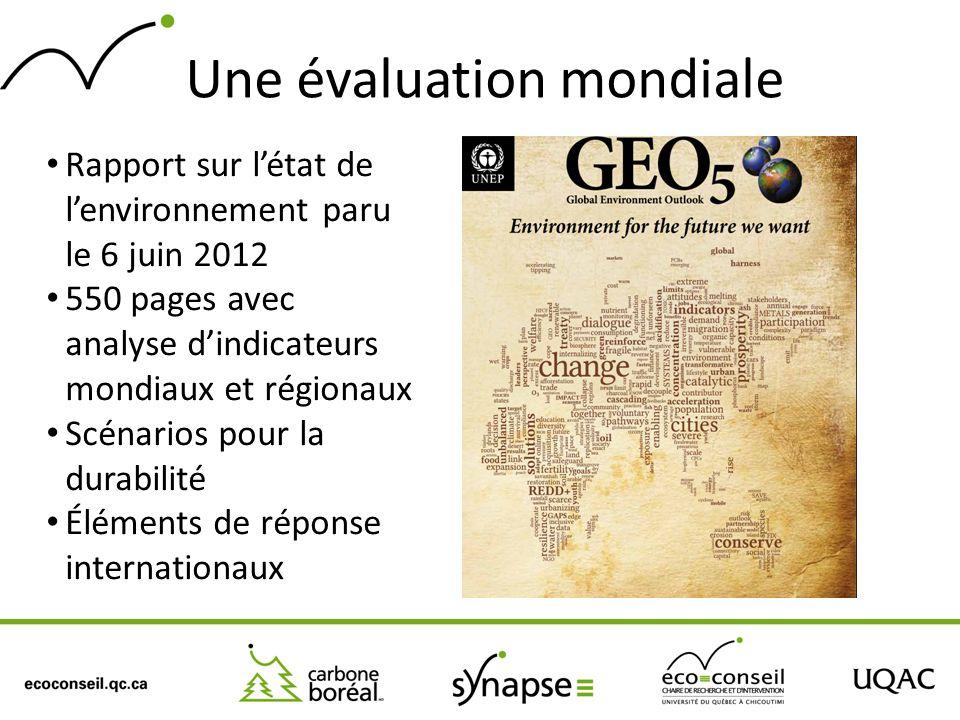 Une évaluation mondiale