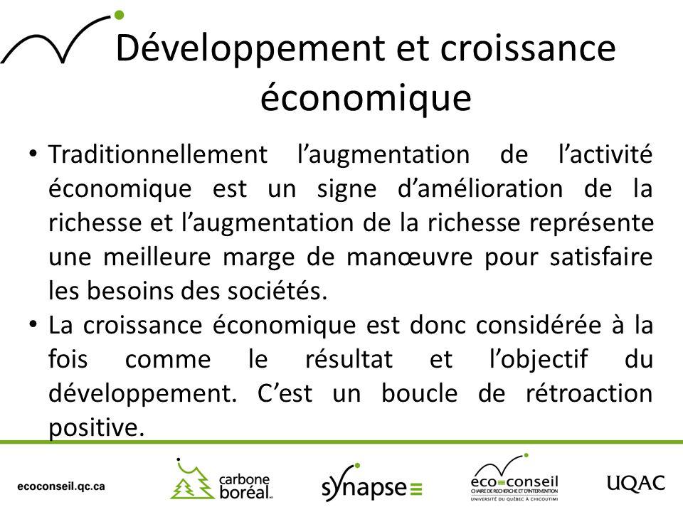 Développement et croissance économique
