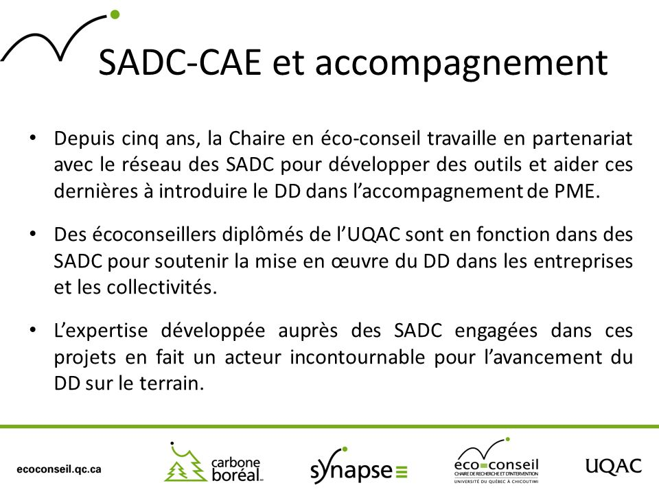 SADC-CAE et accompagnement