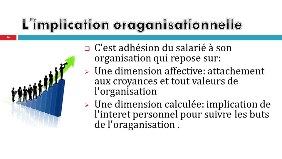 L implication oraganisationnelle
