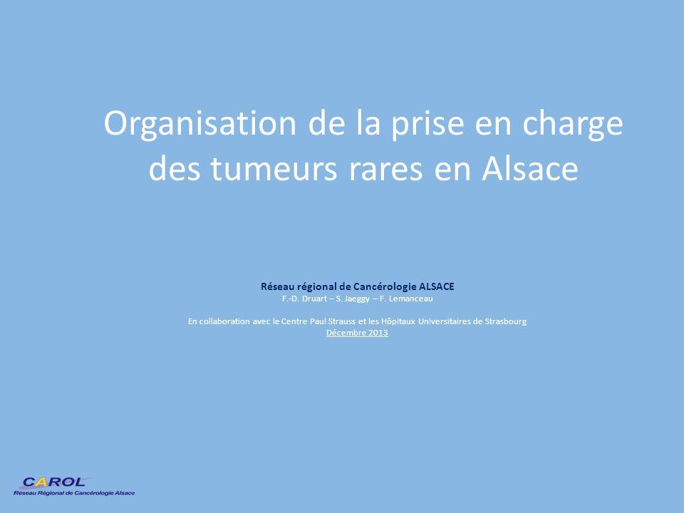 Organisation de la prise en charge des tumeurs rares en Alsace
