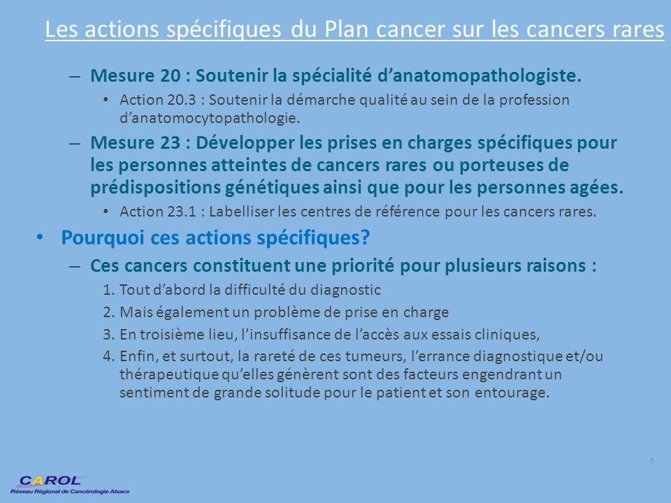 Les actions spécifiques du Plan cancer sur les cancers rares