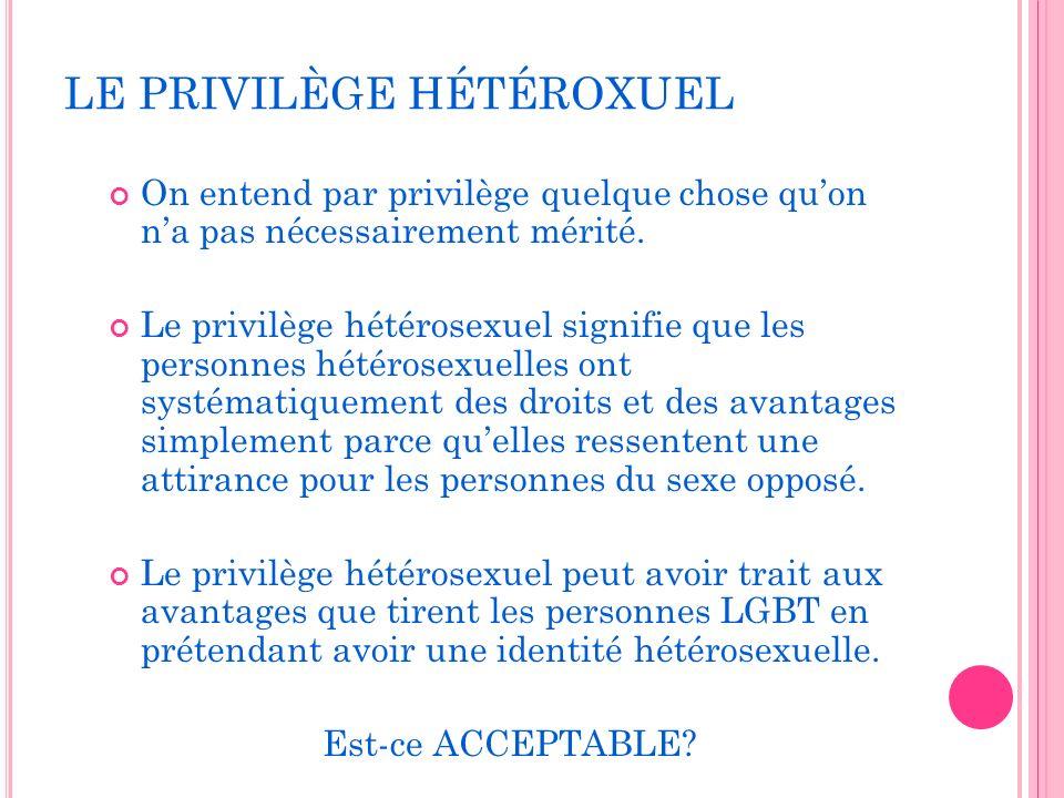 LE PRIVILÈGE HÉTÉROXUEL