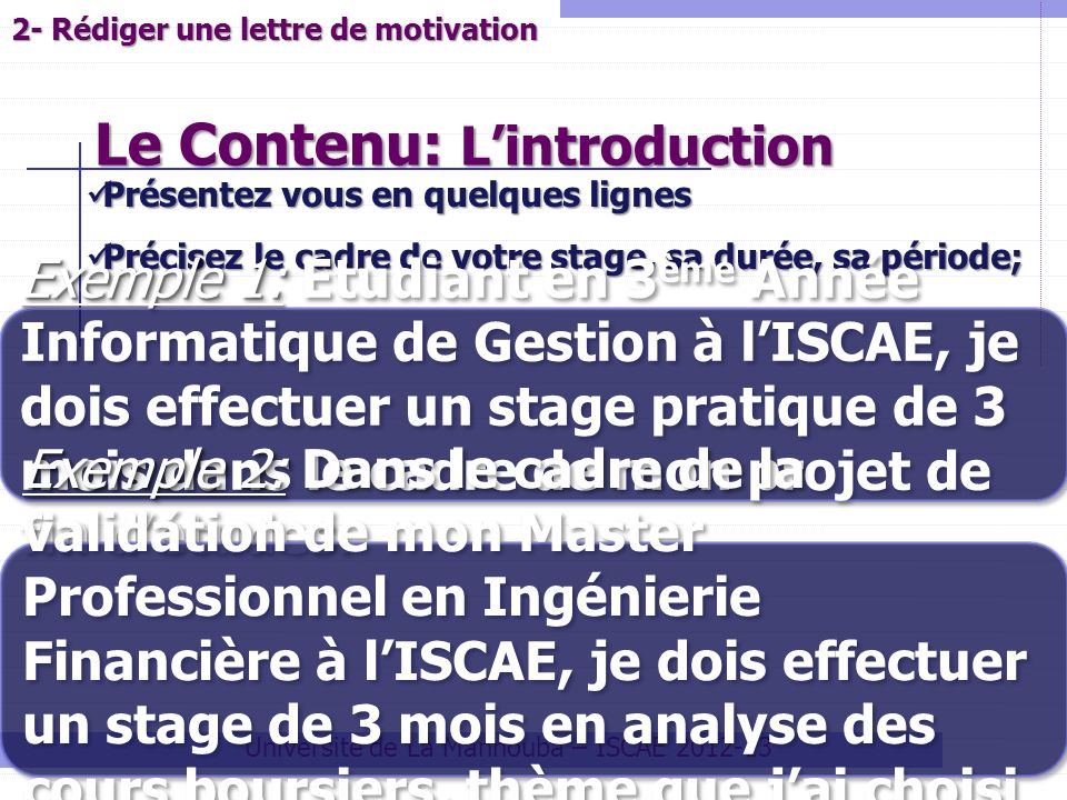 Le Contenu: L'introduction