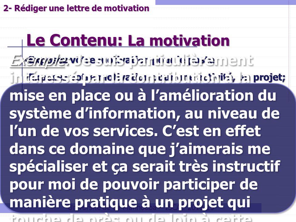 Le Contenu: La motivation