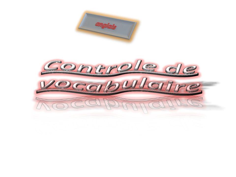 Controle de vocabulaire