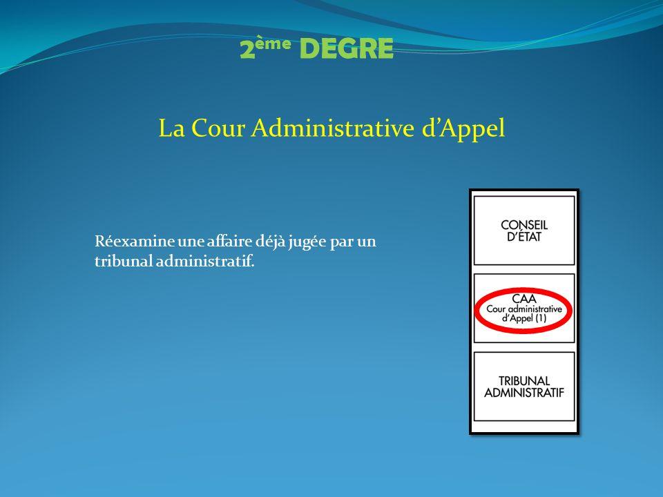 La Cour Administrative d'Appel