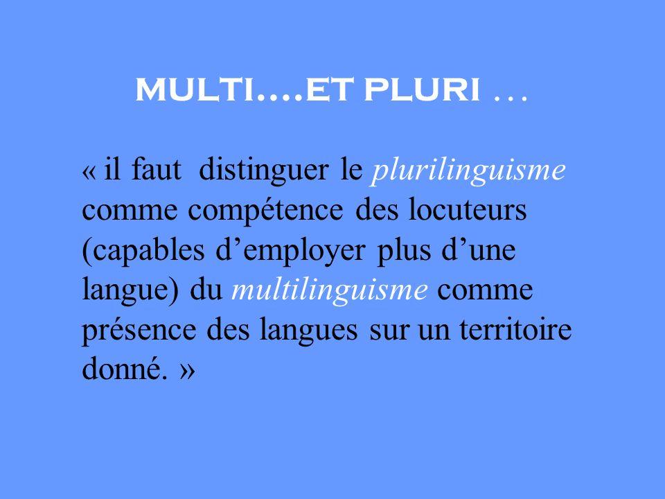 multi….et pluri …