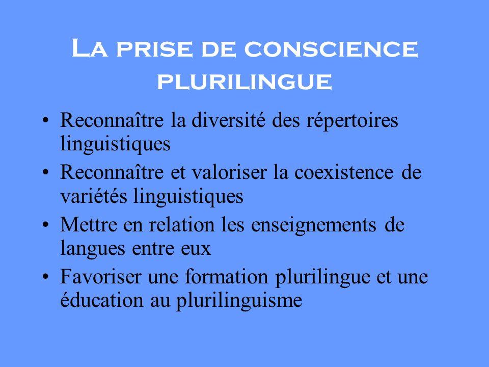 La prise de conscience plurilingue