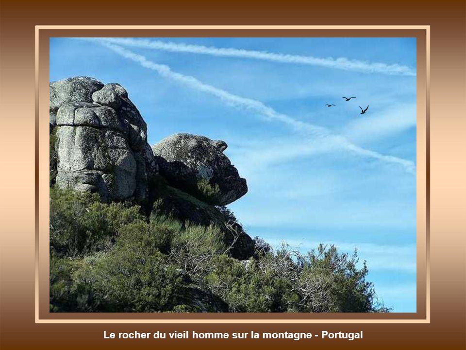 Le rocher du vieil homme sur la montagne - Portugal