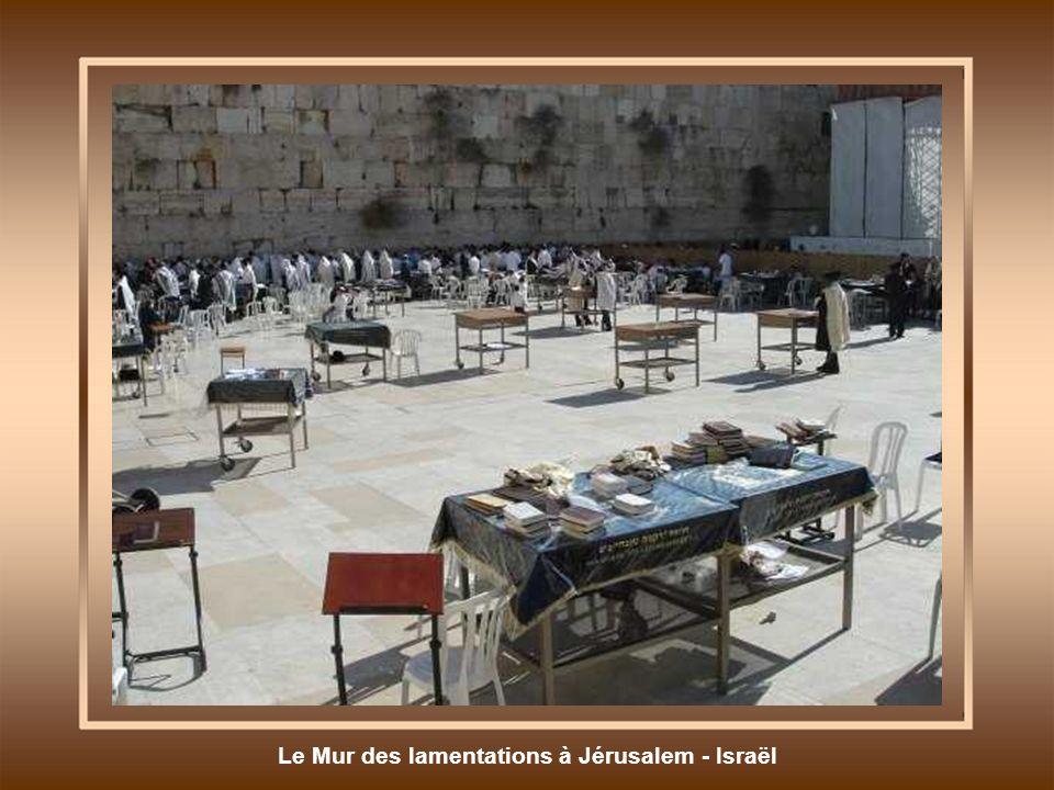 Le Mur des lamentations à Jérusalem - Israël