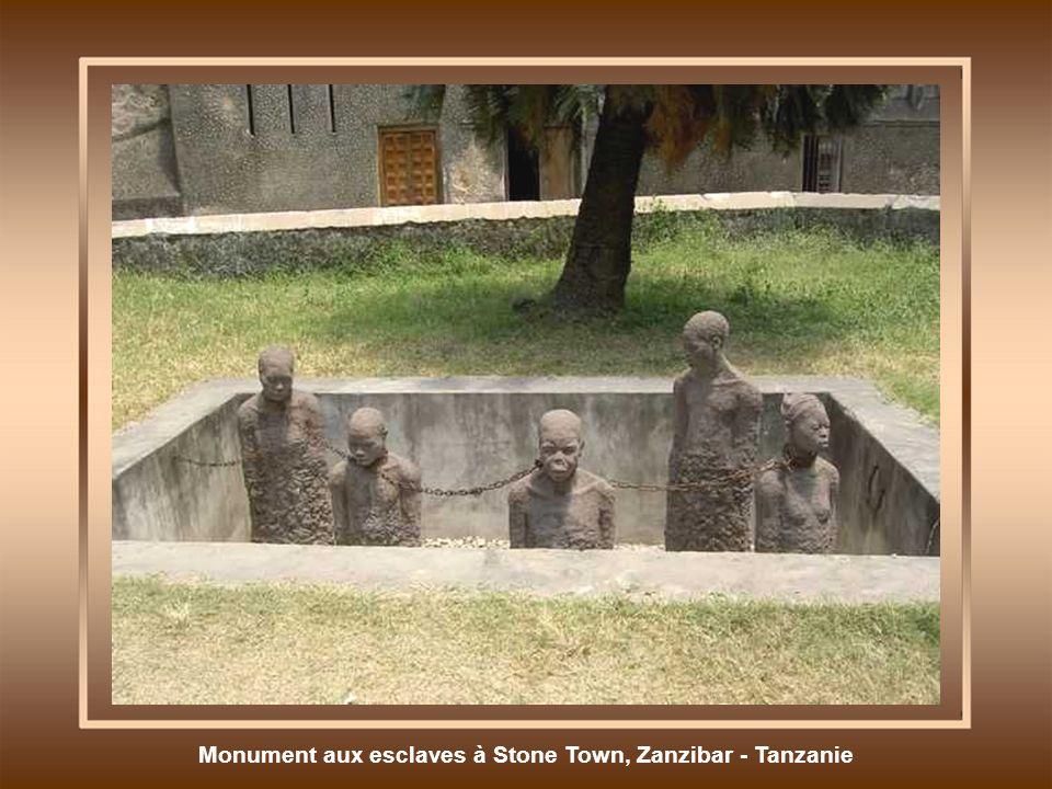 Monument aux esclaves à Stone Town, Zanzibar - Tanzanie