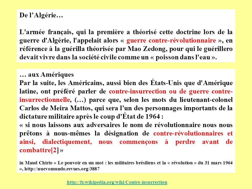 De l'Algérie…