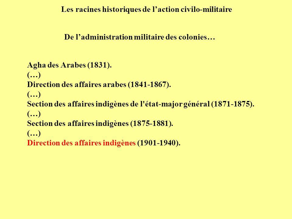 Les racines historiques de l'action civilo-militaire