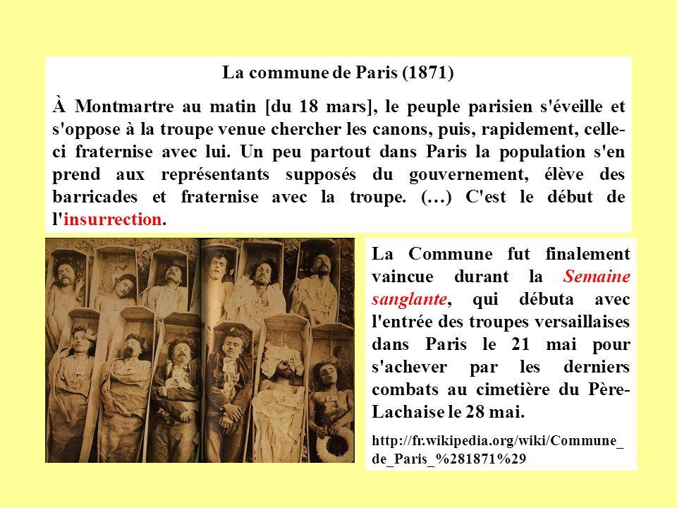 La commune de Paris (1871)