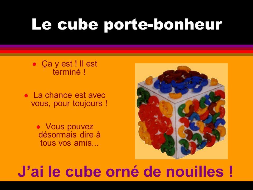 J'ai le cube orné de nouilles !