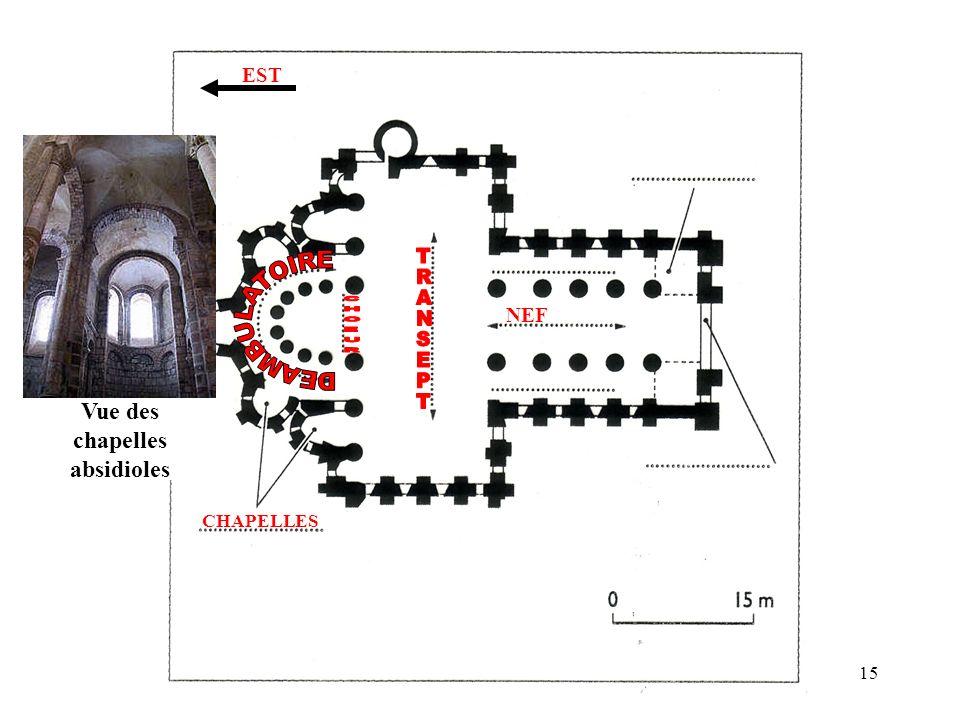 Vue des chapelles absidioles